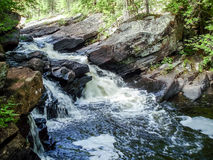 Mountain stream. A stream in the hills of Algonquin Park Royalty Free Stock Photos