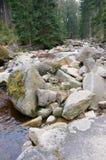 Mountain stream. Mountain stream in the Karkonosze Mountains Stock Image