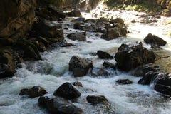 Mountain Stream. Landskape / Mountain Stream through The Forest Royalty Free Stock Photo