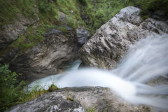Mountain stream long exposure Royalty Free Stock Image