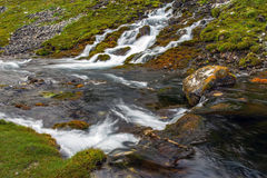 Mountain stream and meadow Royalty Free Stock Photo