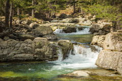 Mountain stream near Albertacce in Corsica Stock Photos