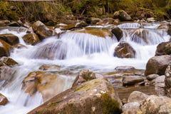 Mountain stream. Nice cascade on a mountain stream Royalty Free Stock Photo