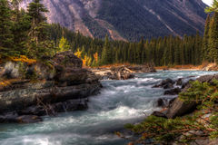 Mountain Stream / River. An HDR image of a glacier fed mountain stream in British Columbia, Canada Stock Photography