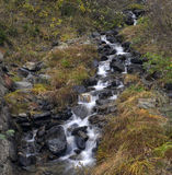 Mountain stream. Among the rocks in autumn Stock Images