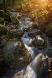 Mountain stream in the rocks in autumn in Monchique. Royalty Free Stock Image