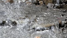 Mountain stream in slow motion. stock footage