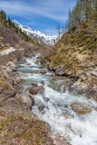 Mountain stream in South Tyrol Royalty Free Stock Photography