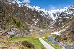 Mountain stream in South Tyrol Stock Photo
