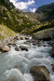 Mountain stream in the Swiss Alps Stock Image