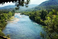 Mountain stream in the Turkey. July 2017 Royalty Free Stock Photos