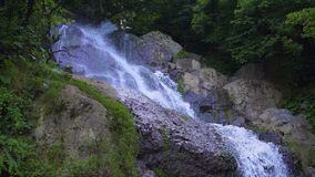 Mountain stream waterfall stock footage