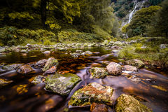 Mountain stream with waterfall Royalty Free Stock Image