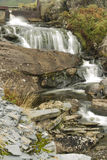 Mountain stream waterfall, long exposure Stock Images