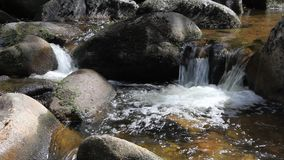 Mountain stream and waterfall stock footage