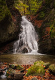 Mountain stream with waterfalls Stock Photo