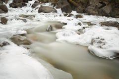 Mountain Stream, Winter Ice Royalty Free Stock Photo