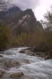 Mountain streams in late autumn. Royalty Free Stock Image