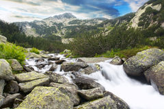 Mountain streem. Bulgarian nature background; mountain river Royalty Free Stock Photo