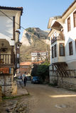 Mountain Street in the historic Melnik, Bulgaria Stock Photos