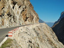 Mountain street Tiger Leaping Gorge Royalty Free Stock Photo