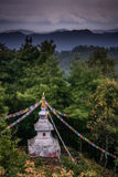 Mountain stupa Royalty Free Stock Image