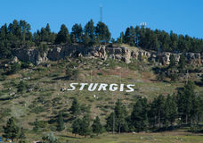 Mountain with STURGIS in white Stock Image