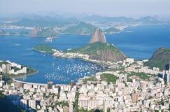 The mountain Sugar Loaf and Botafogo in Rio de Janeiro Stock Photos