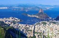 The mountain Sugar Loaf and Botafogo in Rio de Janeiro Stock Images
