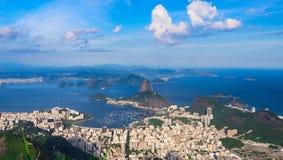Mountain Sugar Loaf and Botafogo in Rio de Janeiro, Brazil. The mountain Sugar Loaf and Botafogo in Rio de Janeiro, Brazil stock images