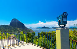 The mountain Sugar Loaf and Guanabara bay in Rio de Janeiro Stock Image