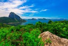 Mountain Sugar Loaf and Guanabara bay in Rio de Janeiro Stock Image