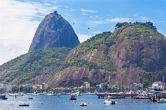 The mountain Sugar Loaf and Urca in Rio de Janeiro Royalty Free Stock Photo