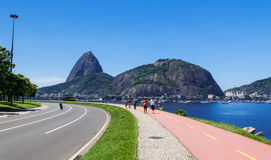 The mountain Sugar Loaf and Urca in Rio de Janeiro Stock Photo