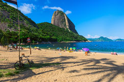 Mountain Sugar Loaf and Vermelha beach in Rio de Janeiro Royalty Free Stock Photography