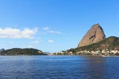 Mountain Sugarloaf from Botafogo, Rio de Janeiro, Brazil Royalty Free Stock Photo