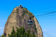 Mountain Sugarloaf cable car, Rio de Janeiro Royalty Free Stock Images