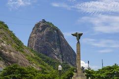 Mountain Sugarloaf General Tiburcio square Monument, Rio de Janeiro. Mountain Sugarloaf General Tiburcio square Monument to the Heroes of Laguna and Golden, Rio royalty free stock image