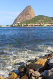 Mountain Sugarloaf from Park Flamengo, Rio de Janeiro, Brazil Royalty Free Stock Photography