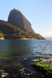 Mountain Sugarloaf from red beach (Praia Vermelha), Rio de Janei Stock Photo