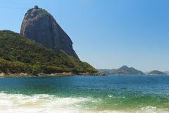 Mountain Sugarloaf  sea red beach (Praia Vermelha), Rio de Janei Royalty Free Stock Photo