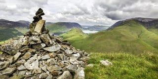 Mountain Summit. Snockrigg Summit Mountain range in the English Lake District royalty free stock photo