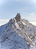 Mountain summit in the alps,. Mountain summit in the French alps stock image