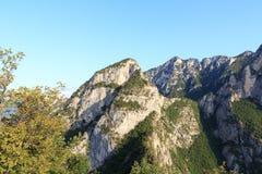 Mountain summit Cima Rocca panorama near Riva del Garda, Italy Royalty Free Stock Photo