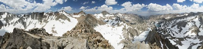 Mountain Summit Panorama Royalty Free Stock Photo