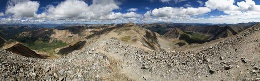 Mountain Summit Panorama Stock Photos