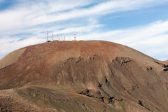 Mountain Summit Radio Masts Stock Photo