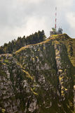 Mountain summit with telecom mast. Stock Photography