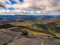 Adirondacks Vista, Mountain Summit, New York. A mountain summit vista in the Adirondacks in New York. A summit in the High Peaks Stock Images