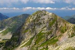 Mountain summit. Wonderful view of the Tatra peaks stock photos